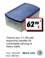Thermobox Gastronorm Deluxe 215mm